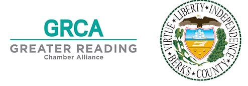 greater reading chamber alliance and berks county commissioners logos